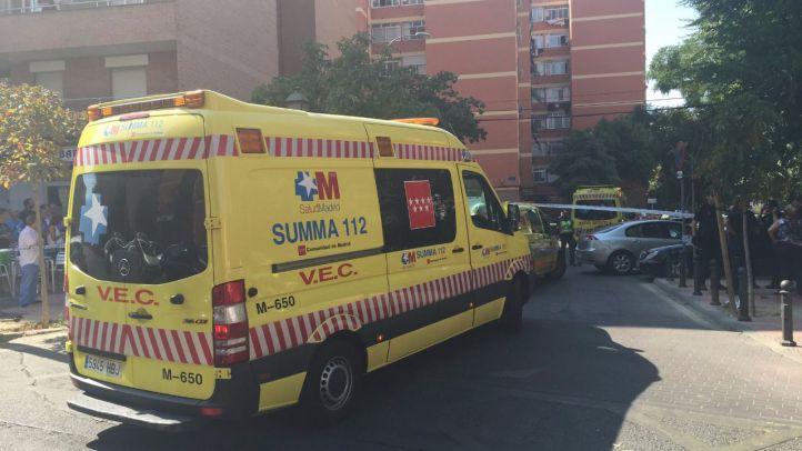 Dispositivo sanitario desplegado en la calle Las Palmas de Móstoles