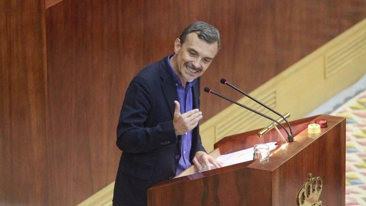 José Manuel López, portavoz de Podemos, interviene en el Debate del Estado de la Región.