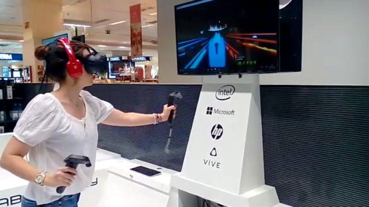 Espacio de realidad virtual en El Corte Inglés de Sanchinarro