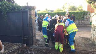 Herido un okupa en el incendio de un chalé en Galapagar