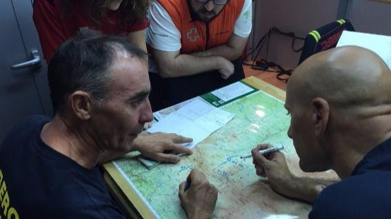 Coordinación de la búsqueda del anciano desaparecido en la sierra