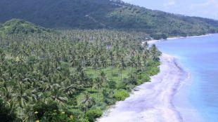 Playa de Lombok, en Indnesia