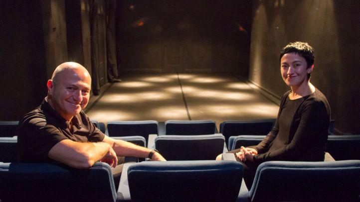 Gabriel Molina y Angélica Briseño en el Teatro La Usina