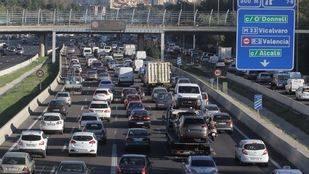 Atascos en Madrid con motivo del Día sin coches