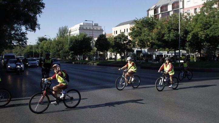 Paseo ciclista de los centros escolares del proyecto STARS