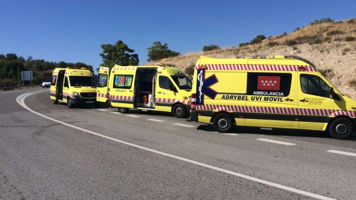Muere un motorista de 66 años en un accidente en Campo Real