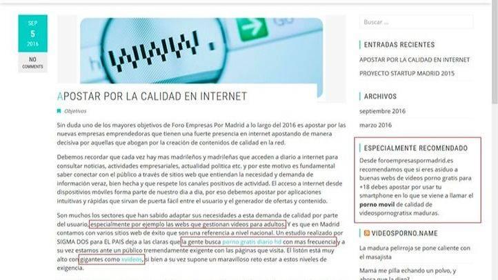 Web de Foroempresaspormadrid.es hackeada