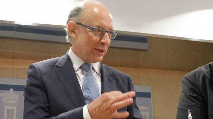 Cristobal Montoro ministro de Hacienda en funciones.