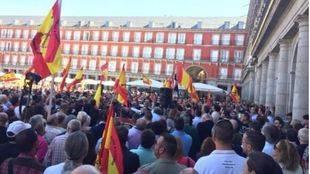 Manifestantes en la protesta de antiguos legionarios