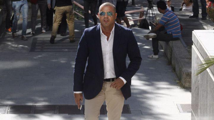 Miguel �ngel Flores a su entrada a la Audiencia Provincial de Madrid.