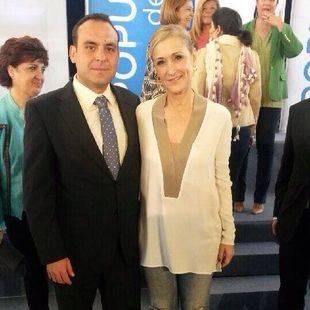 Francisco Jose García Paredes, con Cristina Cifuentes
