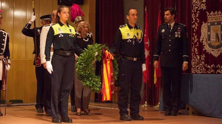 Carmena, en los actos de San Juan de la Policía Municipal