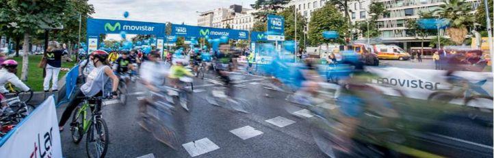 Más de 70.000 madrileños han participado este domingo en la tradicional Fiesta de la Bici
