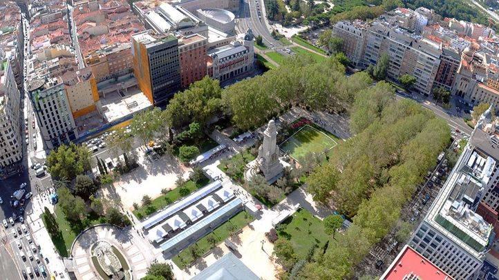 Vista de Plaza España desde Torre de Madrid