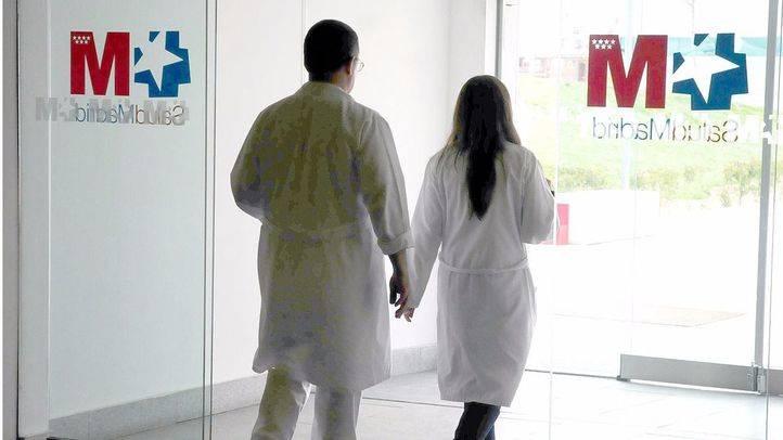 médicos de la Seguridad Social en el Hospital Puerta de Hierro