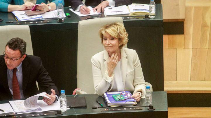 Esperanza Aguirre en el pleno del Ayuntamiento de Madrid