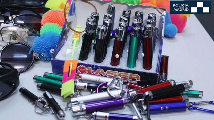 Retirados medio millar de juguetes y artículos peligrosos en Latina