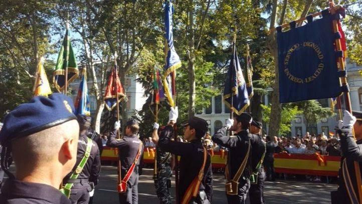 La Policía se adelanta al Doce de Octubre con una exhibición en el Paseo del Prado