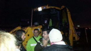La huelga de los jardineros de Leganés arranca con un supuesto intento de atropello