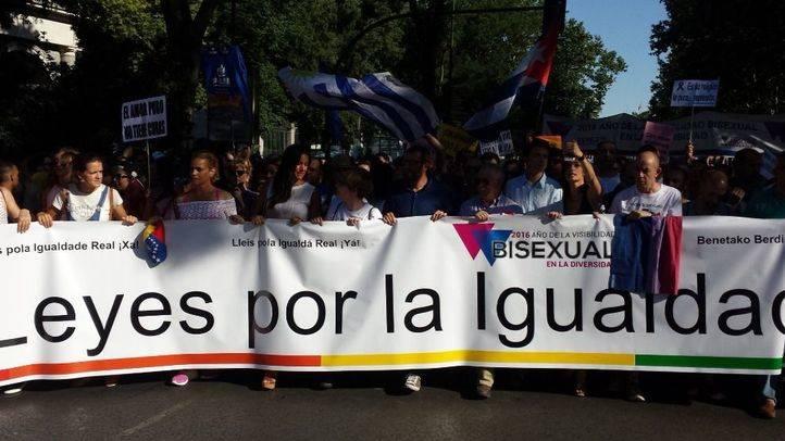 Pancarta de cabecera de la marcha del Orgullo 2016 (archivo)