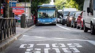 Carril bus de la avenida de la Albufera