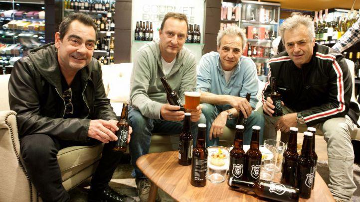Presentaci�n de la nueva cerveza de Hombres G en El Corte Ingl�s.