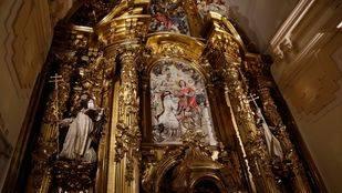 Así luce el restaurado retablo mayor de las Trinitarias Descalzas