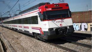 Tren de Cercanías en Leganés.