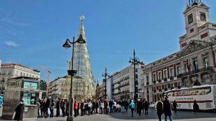 Colas para comprar loter�a de Navidad en la Puerta del Sol