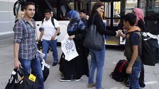 Llegada de los refugiados procedentes de Grecia
