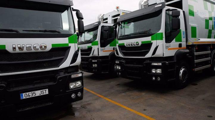 Nuevos camiones de recogida de basura del Ayuntamiento de Madrid.