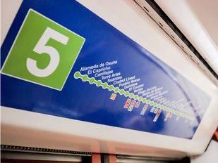 Metro cierra un tramo de la línea 5 este fin de semana