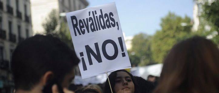 Seguimiento masivo de estudiantes en la huelga contra las reválidas