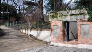Bunker guerra civil Estado Mayor Defensa  de Madrid general Miaja en Parque del Capricho, acceso.