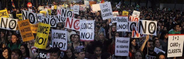 Decenas de miles de personas claman contra las reválidas y la LOMCE
