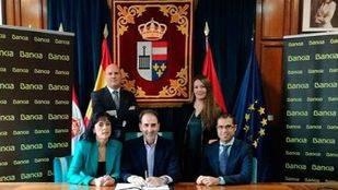 Firma del convenio entre Bankia y el Ayuntamiento de San Lorenzo de El Escorial