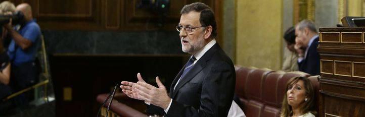 Mariano Rajoy, en una de sus intervenciones en la sesi�n de investidura