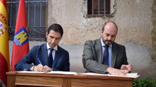Javier Rodríguez Palacios y Pedro Rollán firman un convenio para la finalización de las obras del antiguo Convento de Capuchinos
