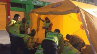 Un motorista en estado grave tras caerse en Montecarmelo