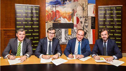 Firma de convenio entre Bankia y la Gremial del Taxi
