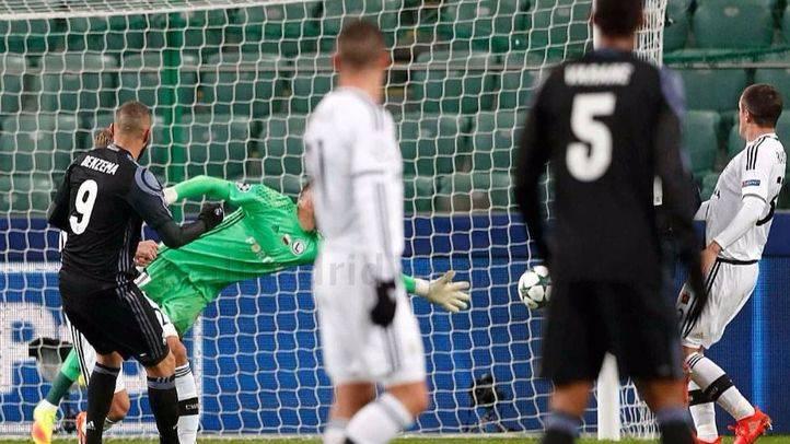 El Madrid se deja empatar en Varsovia un partido que tenía ganado