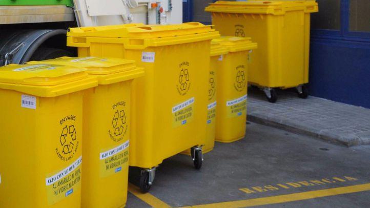 La recogida del contenedor amarillo se hará también en domingo
