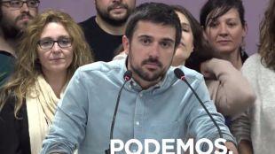 Espinar dice que si estuviera en el lugar de López no sería portavoz de la Asamblea