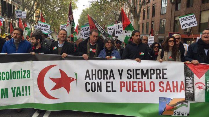 Manifestación por la autodeterminación del Sáhara Occidental