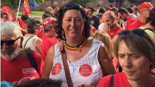Teresa Fernández González, en una manifestación