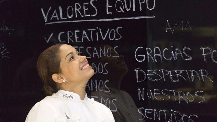 La chef María Marte, encargada de diseñar el menú de Nochevieja del Palace