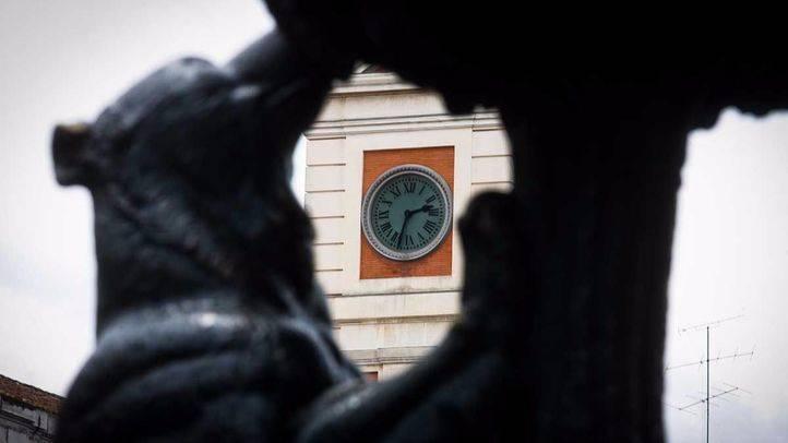 Reloj de la Puerta del Sol a las doce