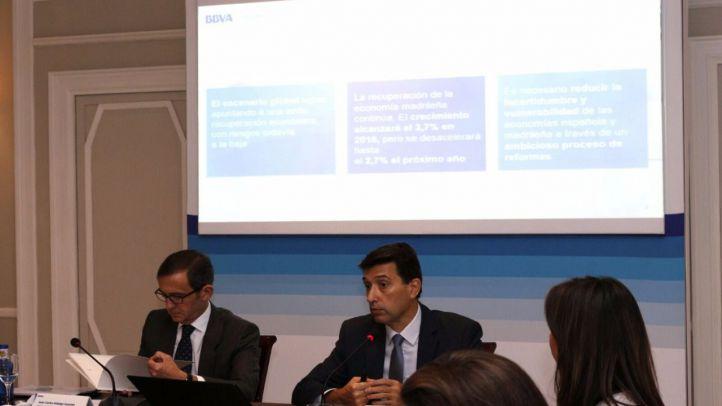 BBVA Research prevé que Madrid crecerá un 3,7% en 2016 y un 2,7% en 2017