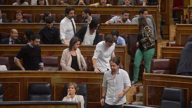 Diputados de Unidos Podemos se ausentan del Congreso en el minuto de silencio por Barberá