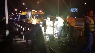 Herido grave tras ser atropellado en la vía de servicio de la A-2